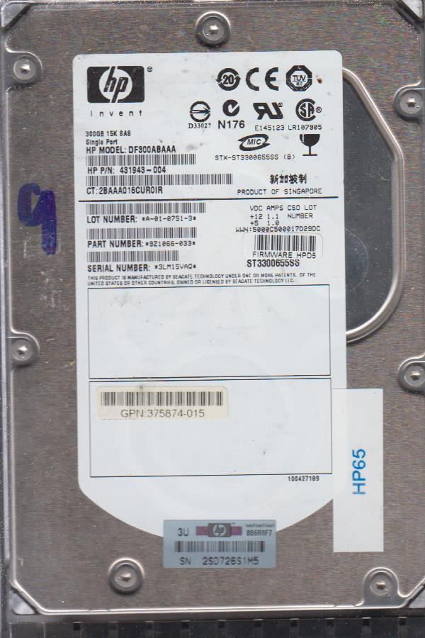 HP DF300ABAAA 3000GB