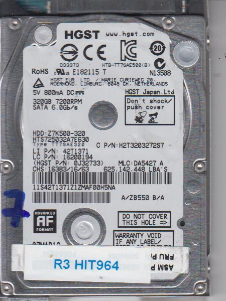 Hitachi HTS725032A7E630 320GB