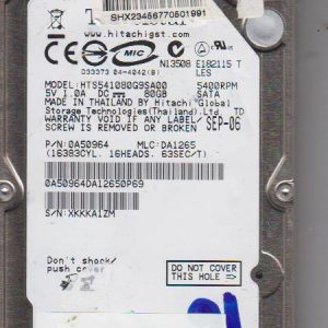Hitachi HTS541080G9SA00 80GB