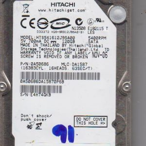 Hitachi HTS541612J9SA00 120GB