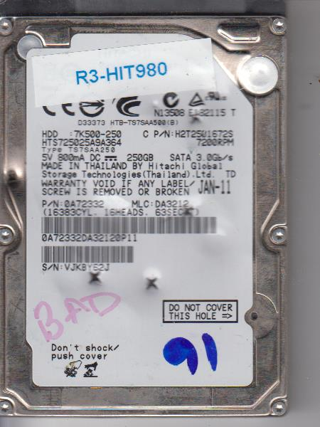 Hitachi HTS725025A9A364 250GB