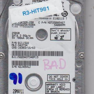 Hitachi HTS543225A7A384 250GB