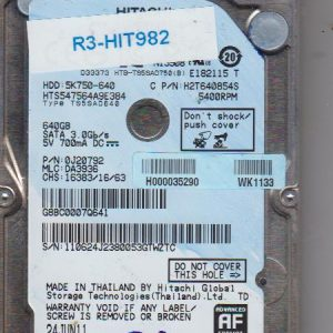 Hitachi HTS547564A9E384 640GB
