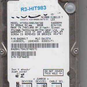 Hitachi HTS541680J9AT00 80GB