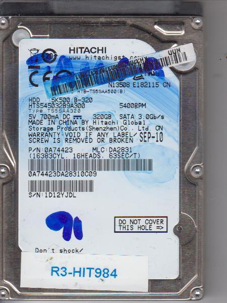 Hitachi HTS545032B9A300 320GB