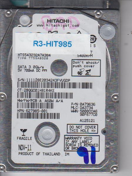 Hitachi HTS543232A7A384 320GB
