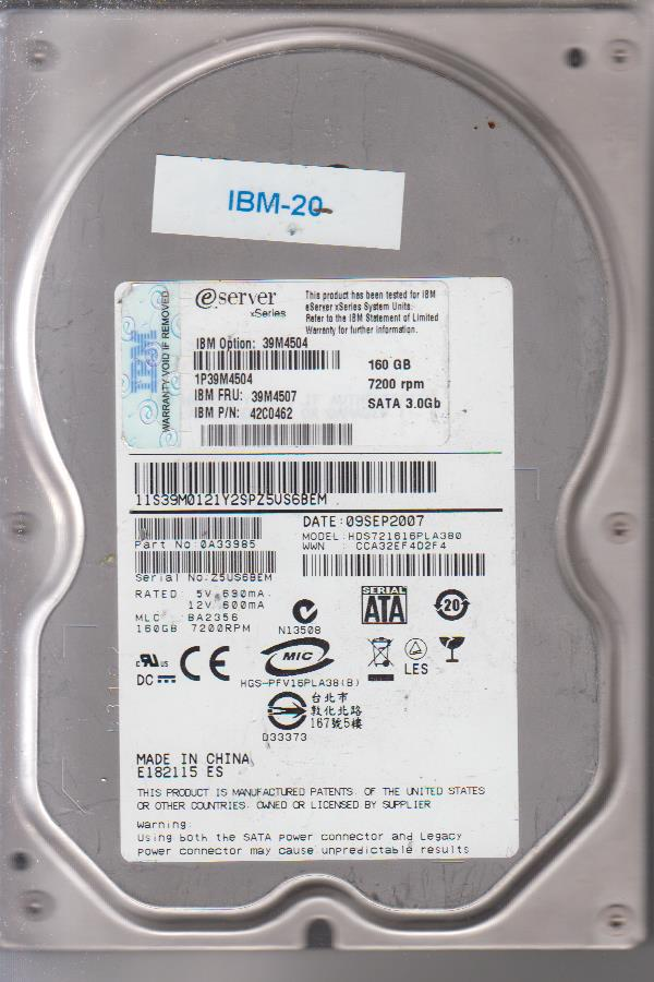 IBM HDS721616PLA380 160GB