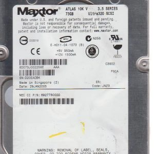 Maxtor ATLAS 10K V Ultra320 73GB