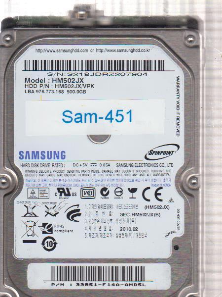 Samsung HM502JX 500GB