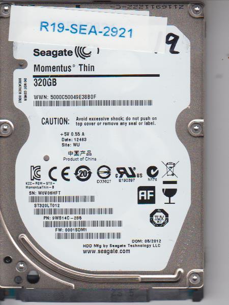 Seagate ST320LT012 320GB