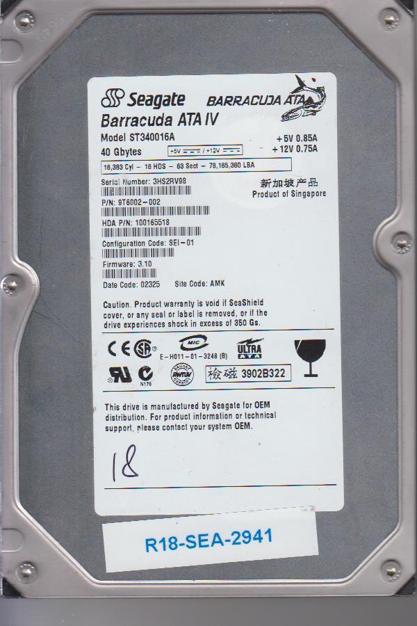 Seagate ST340016A 40GB