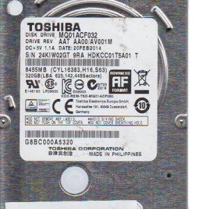Toshiba MQ01ACF032 320 GB