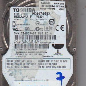 Toshiba MK6476GSX 640GB