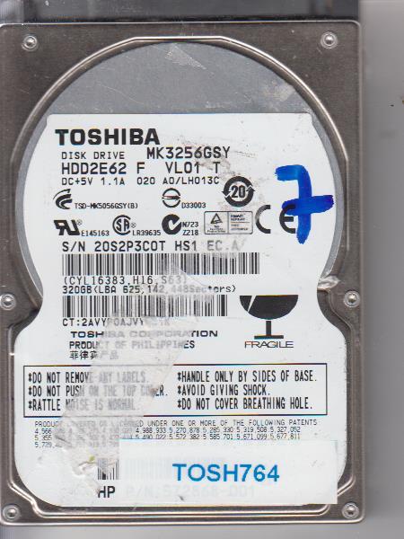 Toshiba MK3256GSY 320GB