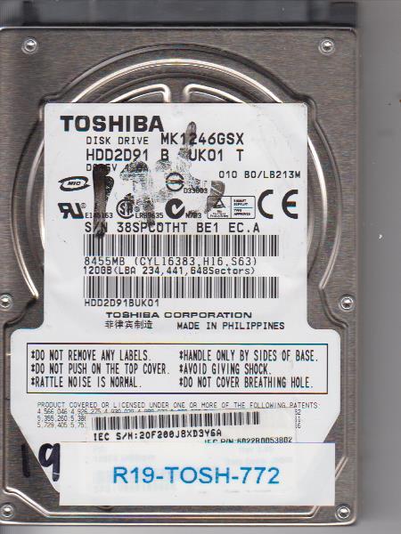 Toshiba MK1246GSX 120GB
