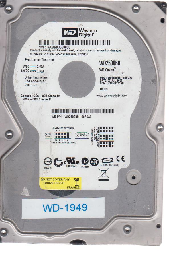 Western Digital WD2500BB-00RDA0 250GB
