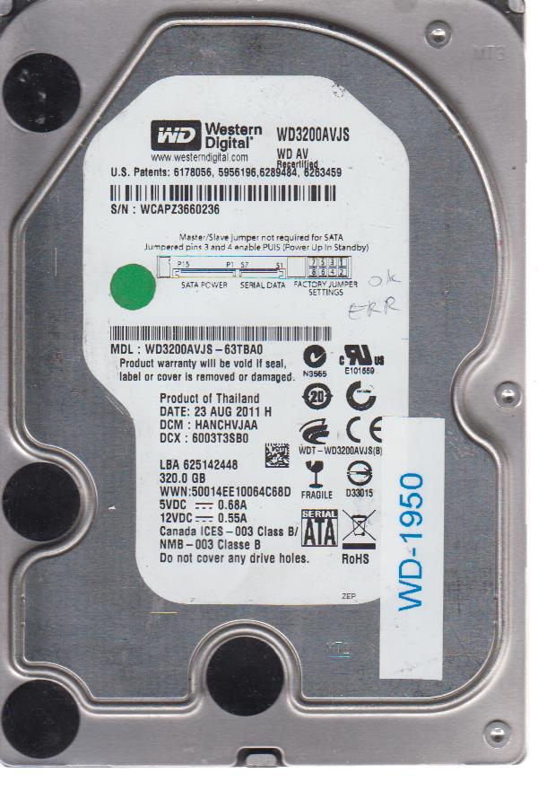 Western Digital WD3200AVJS-63TBA0 320GB