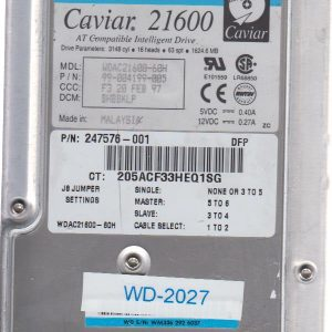 Western Digital WDAC21600-60H 1624.6MB