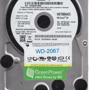 Western Digital WD7500AACS-00ZJB0 750GB