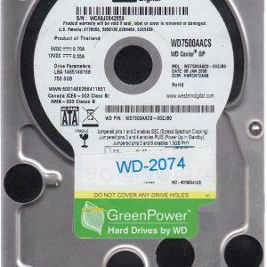 Western Digital WD7500AACS-00ZJB0 750GB