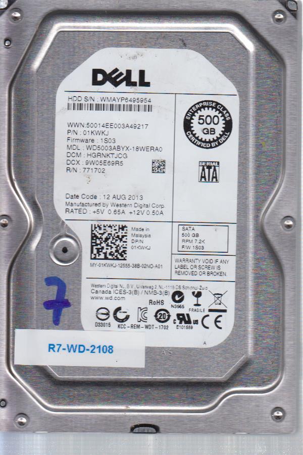 Western Digital WD50014EE003A49217 500 GB