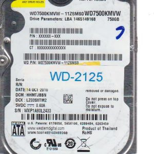 Western Digital WD7500KMVW-11ZSMS0 750GB