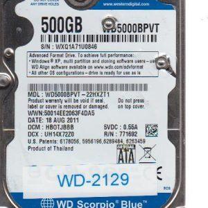 Western Digital WD5000BPVT-22HXZT1 500GB