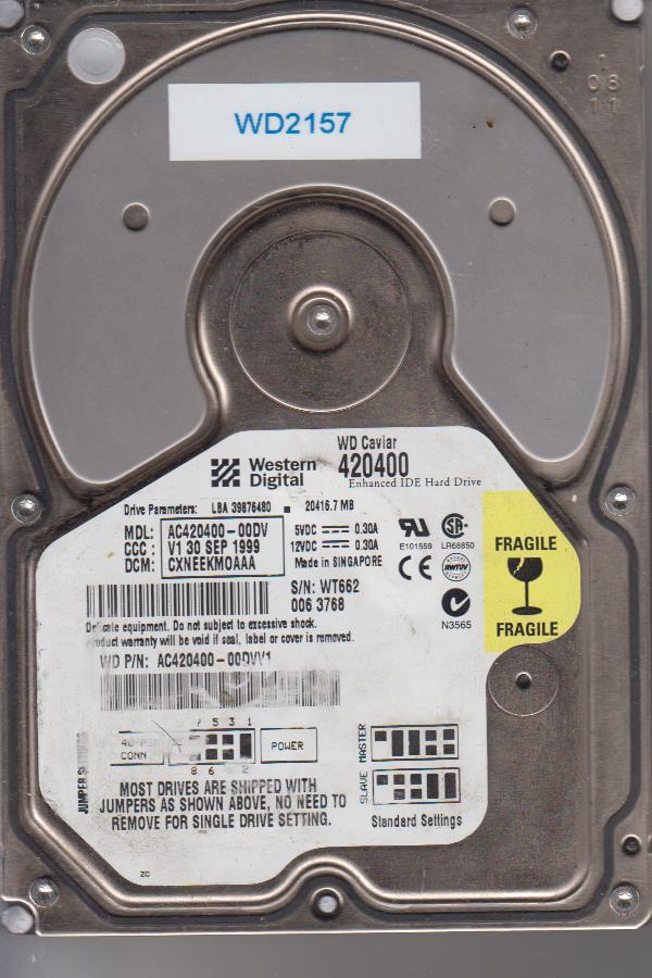 Western Digital AC420400-00DV 20GB