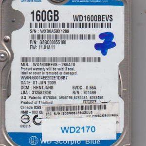 Western Digital WD1600BEVS-26VAT0 160GB