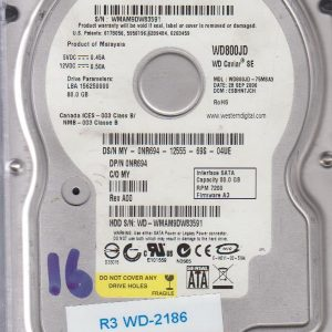 Western Digital WD800JD-75MSA3 80GB