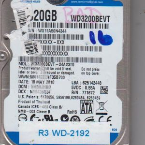 Western Digital WD3200BEVT-24A23T0 320GB