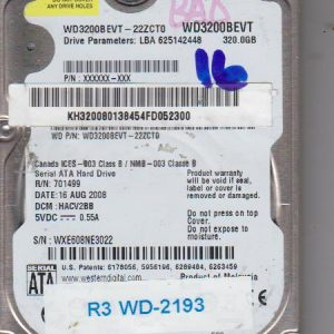 Western Digital WD3200BEVT-22ZCT0 320GB