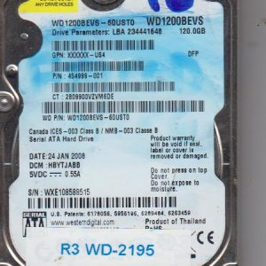 Western Digital WD1200BEVS-60UST0 120GB