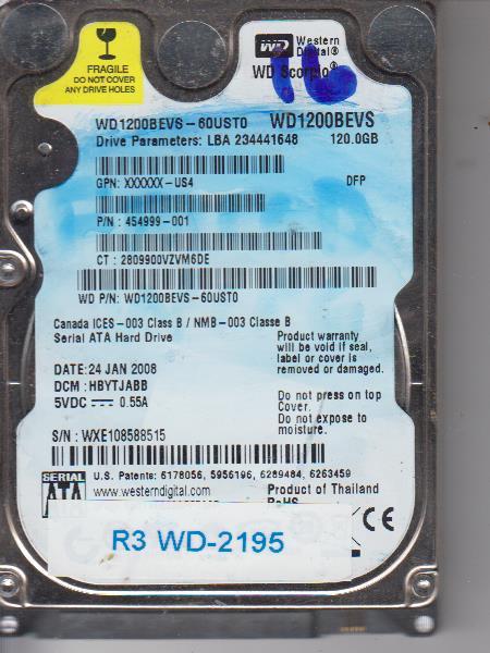Western Digital WD1200BEVS-60UST0 120GB