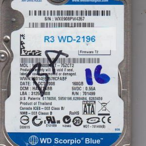 Western Digital WD1600BEVT-75ZCT2 160GB