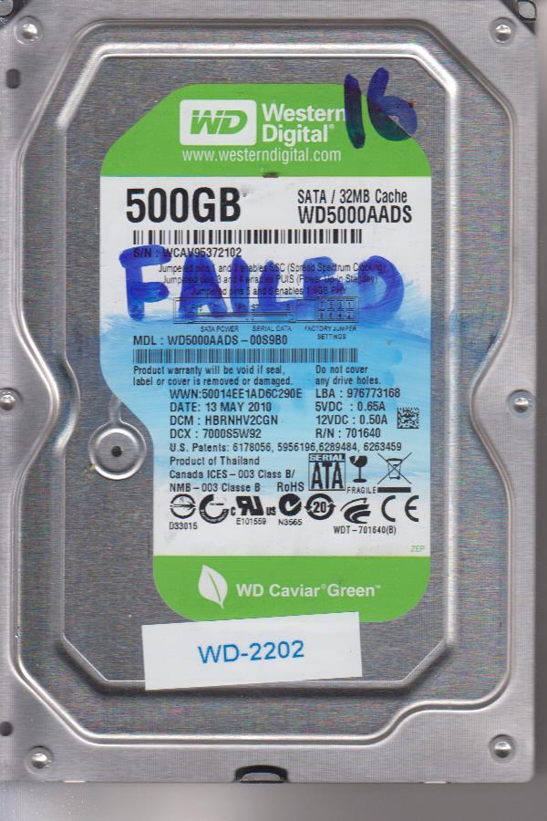 Western Digital WD5000AADS-00S9B0 500GB