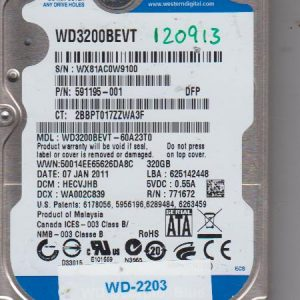 Western Digital WD3200BEVT-60A23T0 320GB