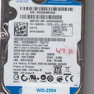 Western Digital WD3200BEVT-75ZCT2 320GB