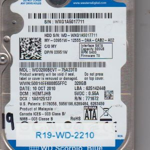 Western Digital WD3200BEVT-75A23T0 320GB